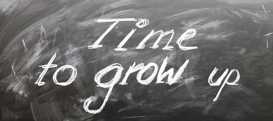 Time to grow written on a black board